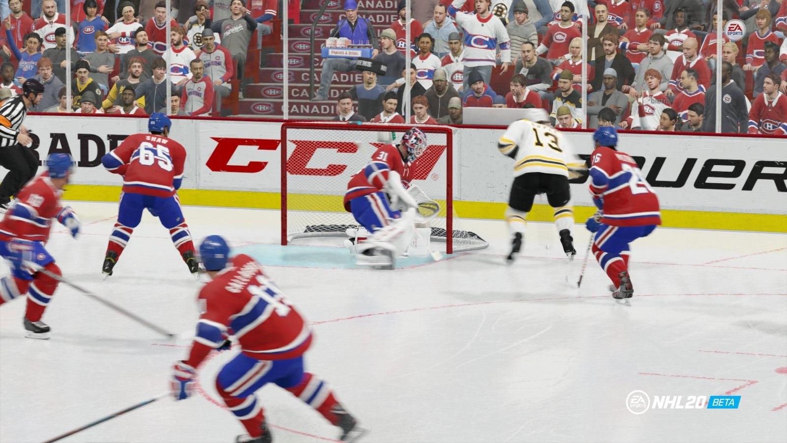 NHL 20; gameplay: zápas
