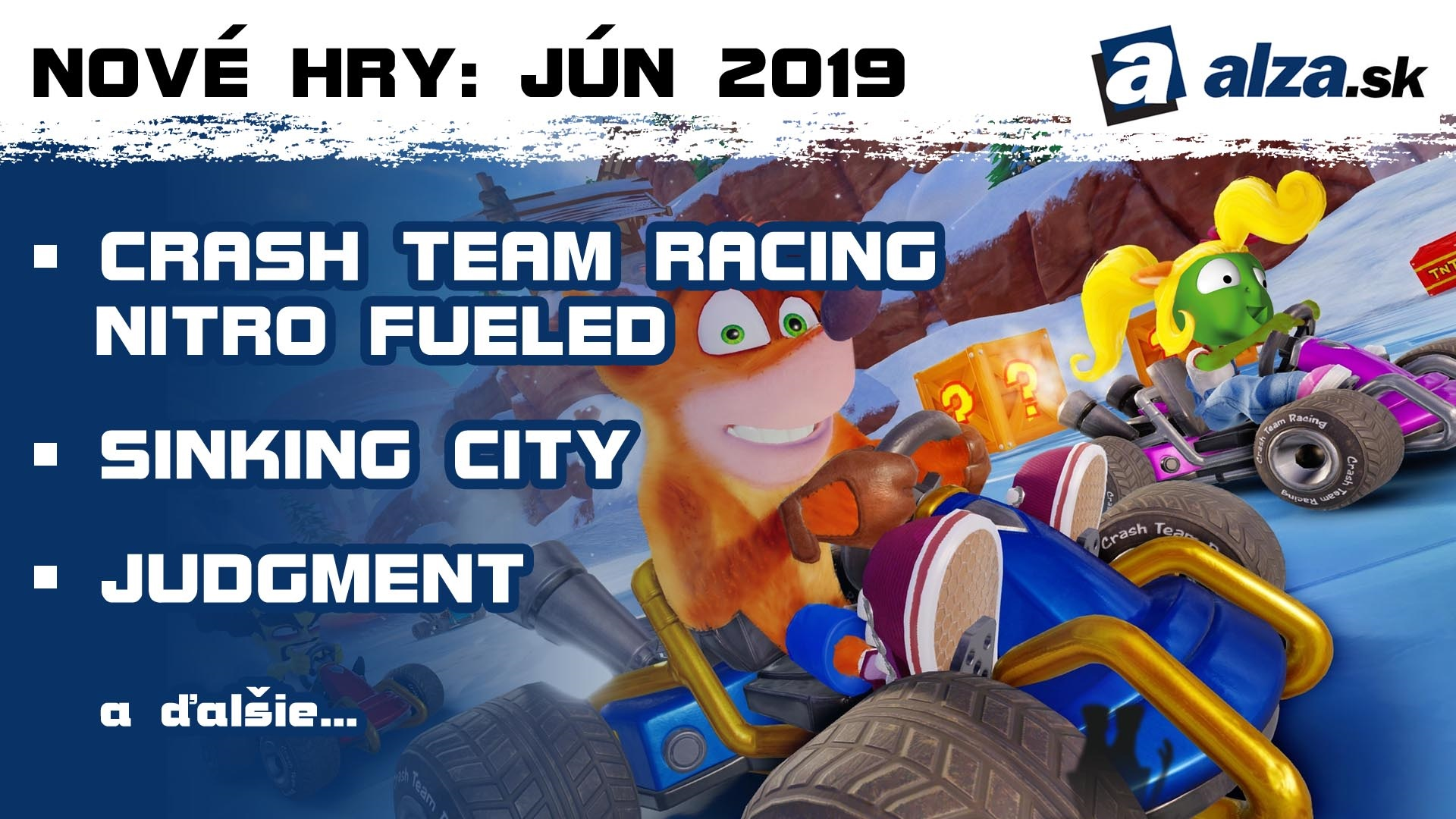 4db29ce51 Nové hry: jún 2019 – Crash Team Racing Nitro Fueled