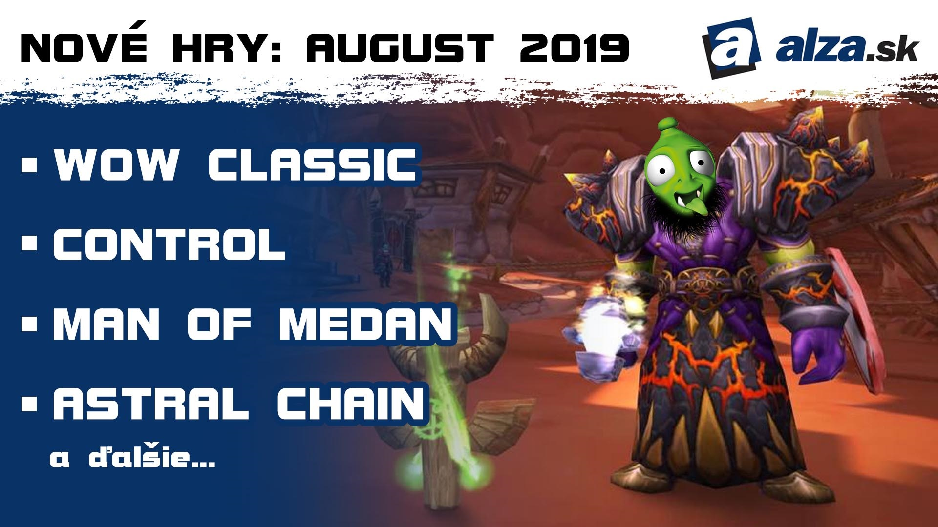 Nové hry: august 2019 – WoW Classic
