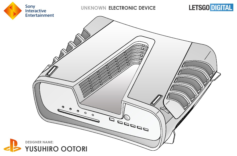 PlayStation 5; screenshot: design patent