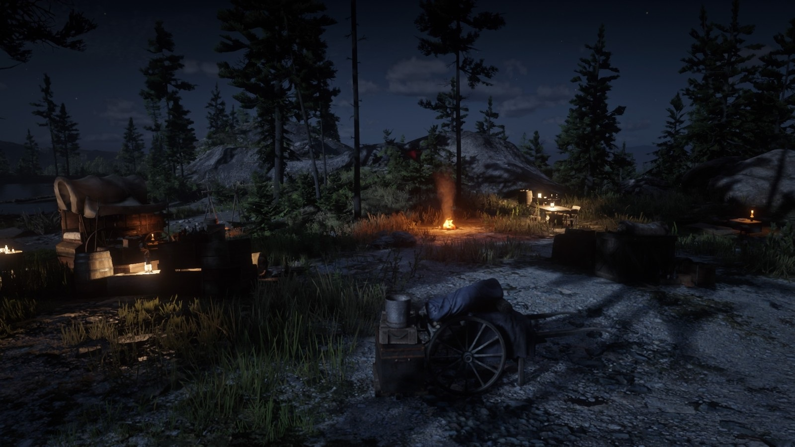 Red Dead Online; gameplay: tábor