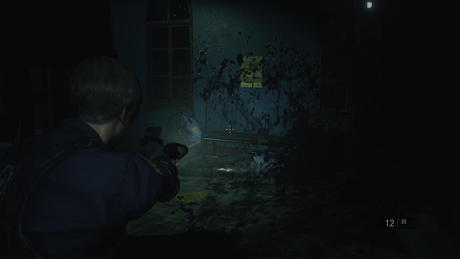 Resident Evil 2; gameplay: Gore