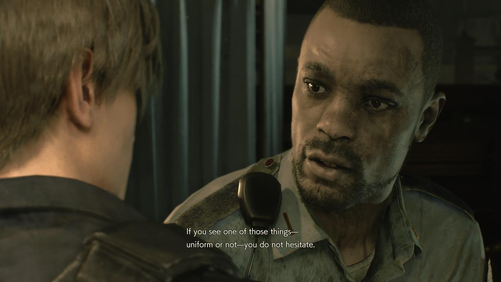 Resident Evil 2; gameplay: poručík