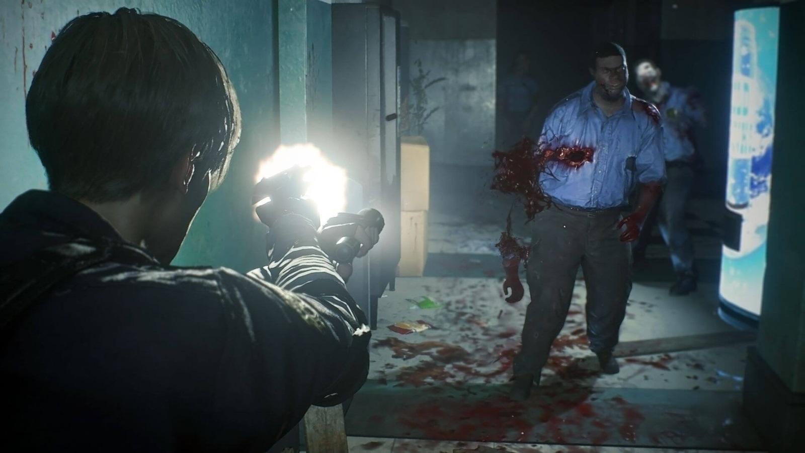Resident Evil 2; screenshot: streľba