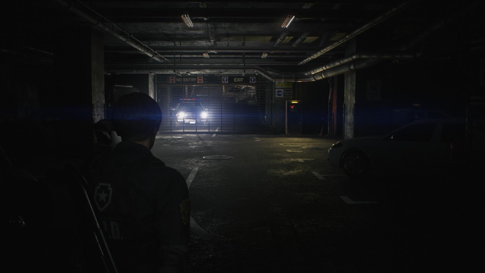 Resident Evil 2; gameplay: garáž