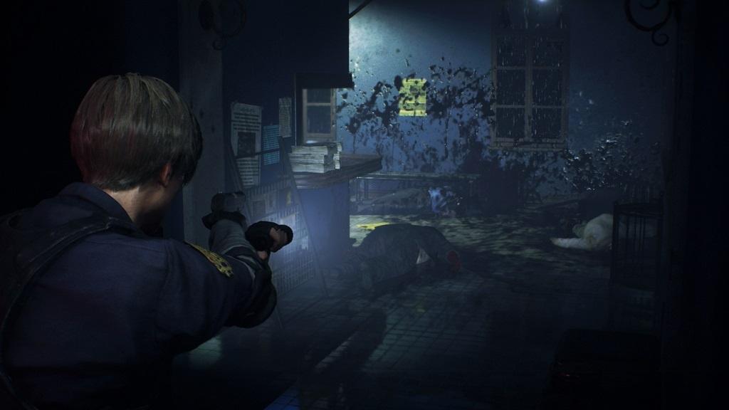 Resident Evil 2; screenshot: gore