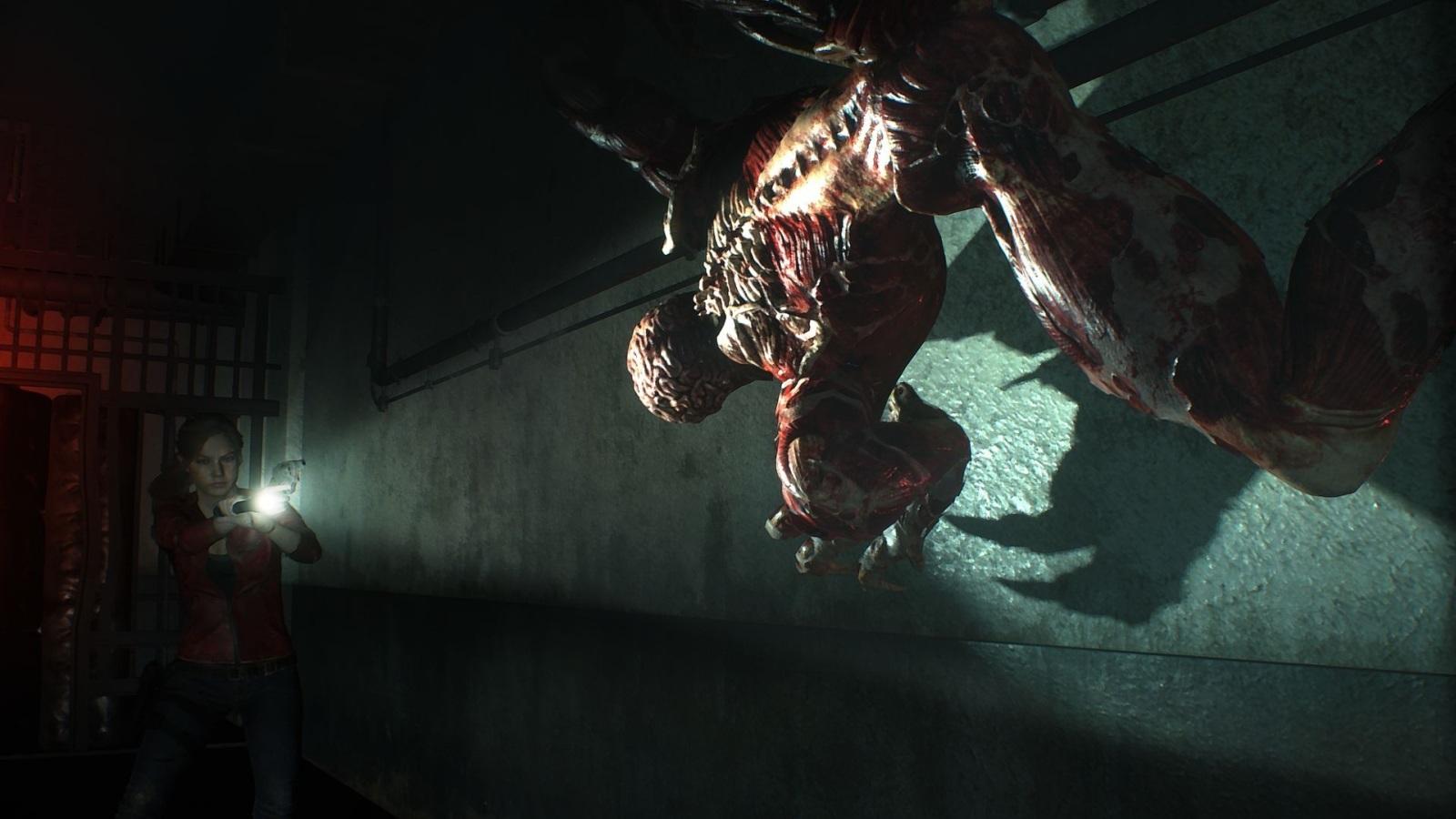 Resident Evil 2; screenshot: múr