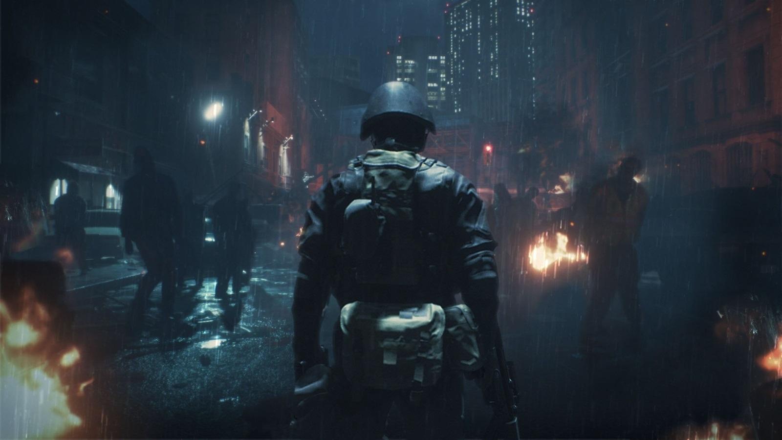 Resident Evil 2; screenshot: hunk