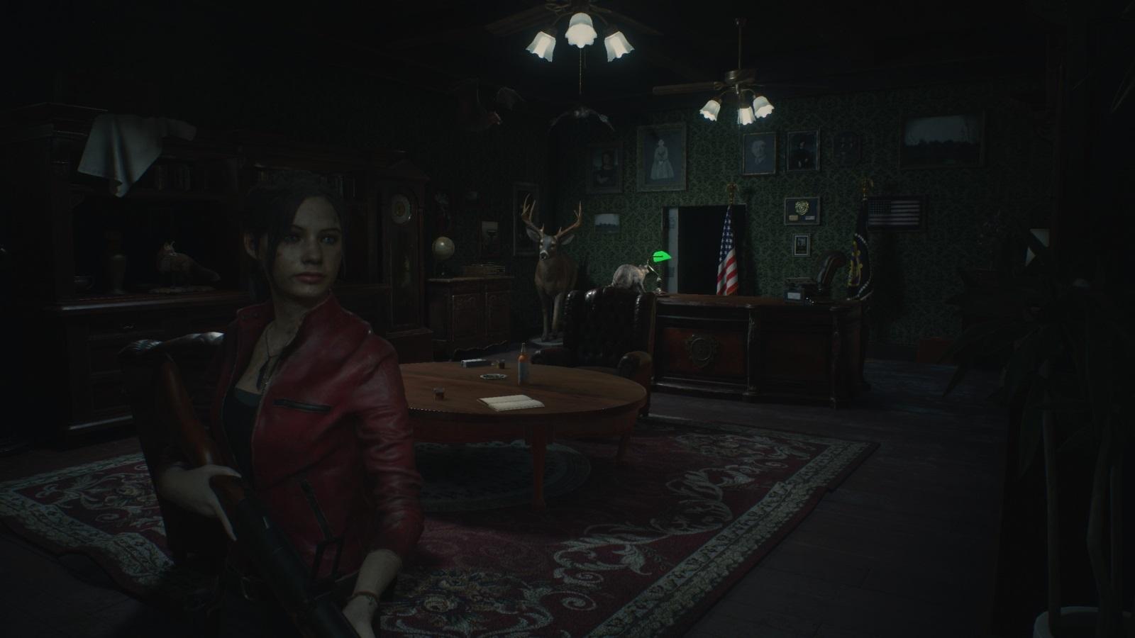 Resident Evil 2; gameplay: kancelária
