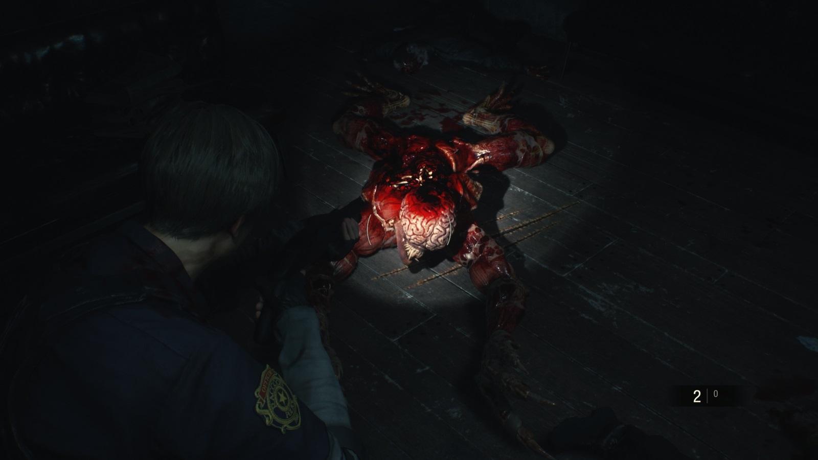 Resident Evil 2; gameplay: licker