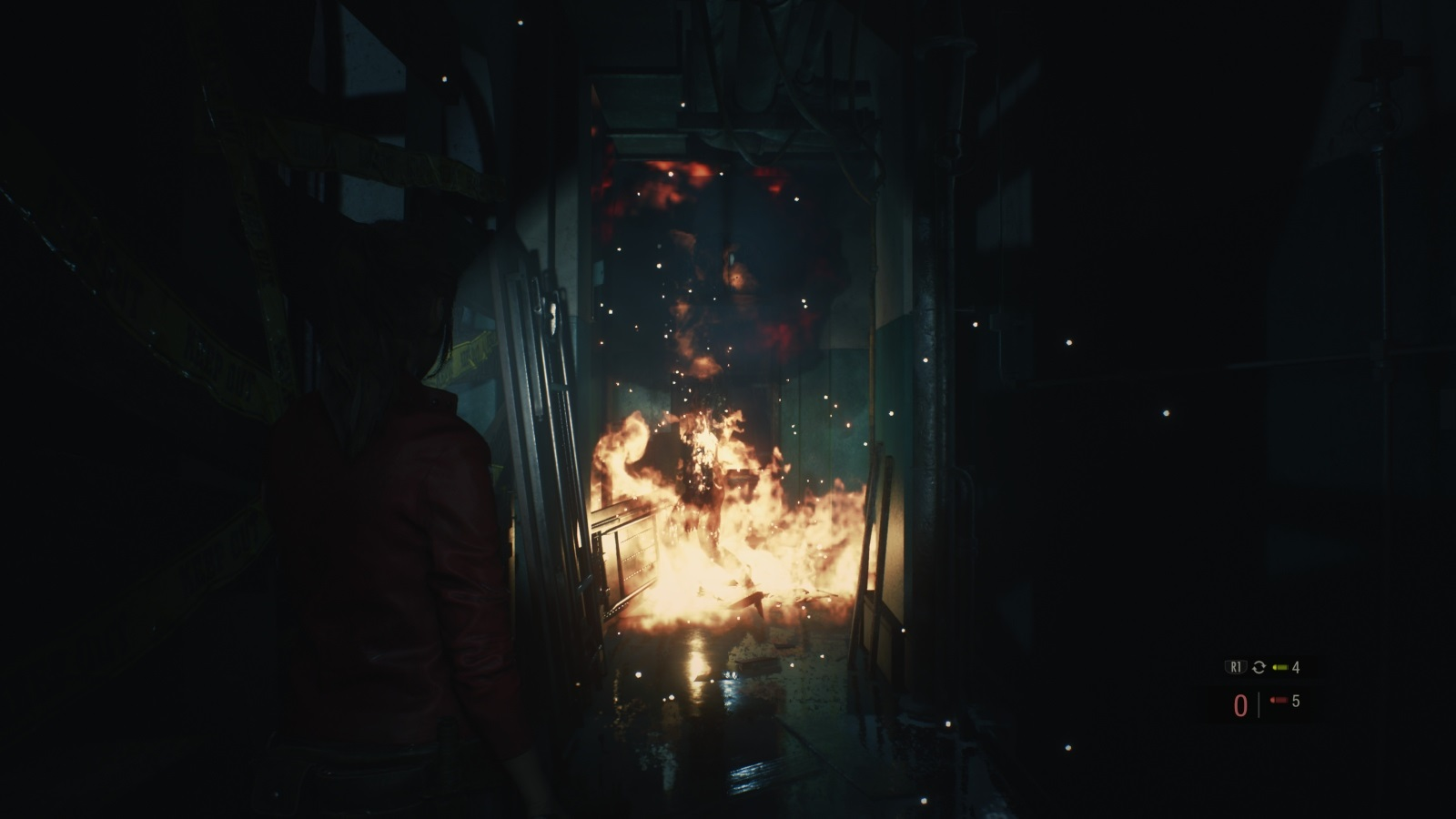Resident Evil 2; gameplay: plamene
