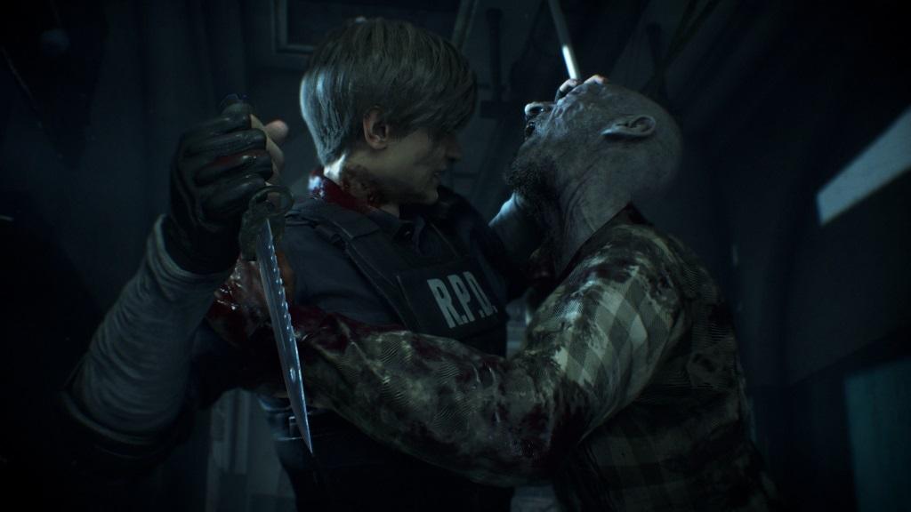 Resident Evil 2; screenshot: súboj