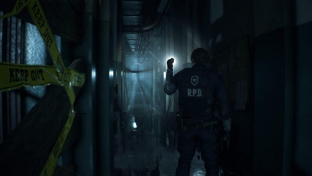 Resident Evil 2; screenshot: ulička