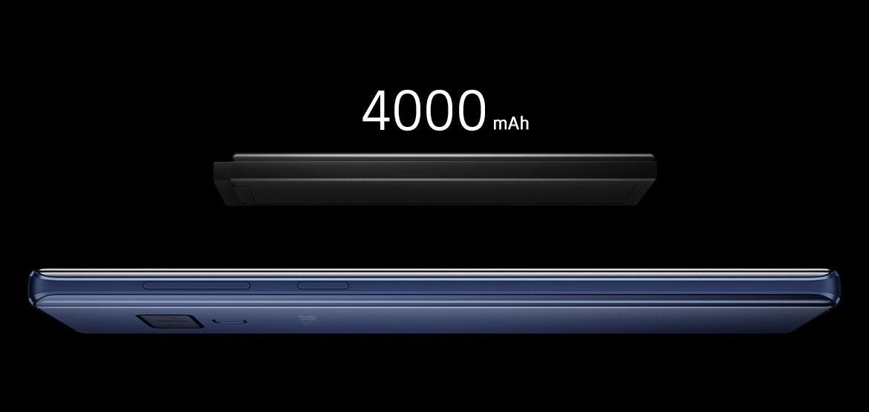 Kapacita batérie Samsung Galaxy Note9 je 4 000 mAh