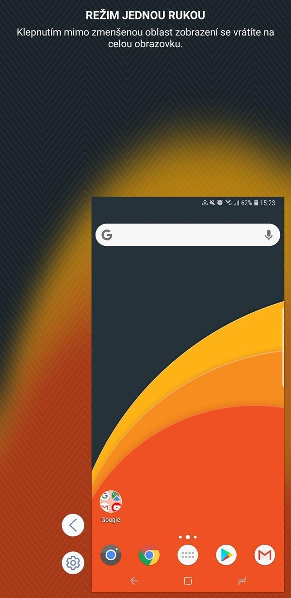 Samsung Galaxy Note9; recenzia; režim jednou rukou