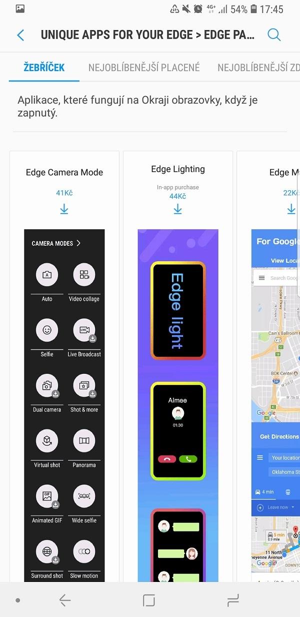 Samsung Galaxy Note9; recenzia; aplikácia na okraji