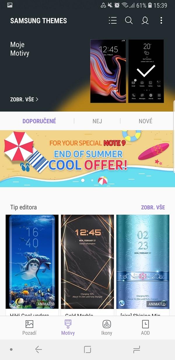 Samsung Galaxy Note9; recenzia; moje motívy