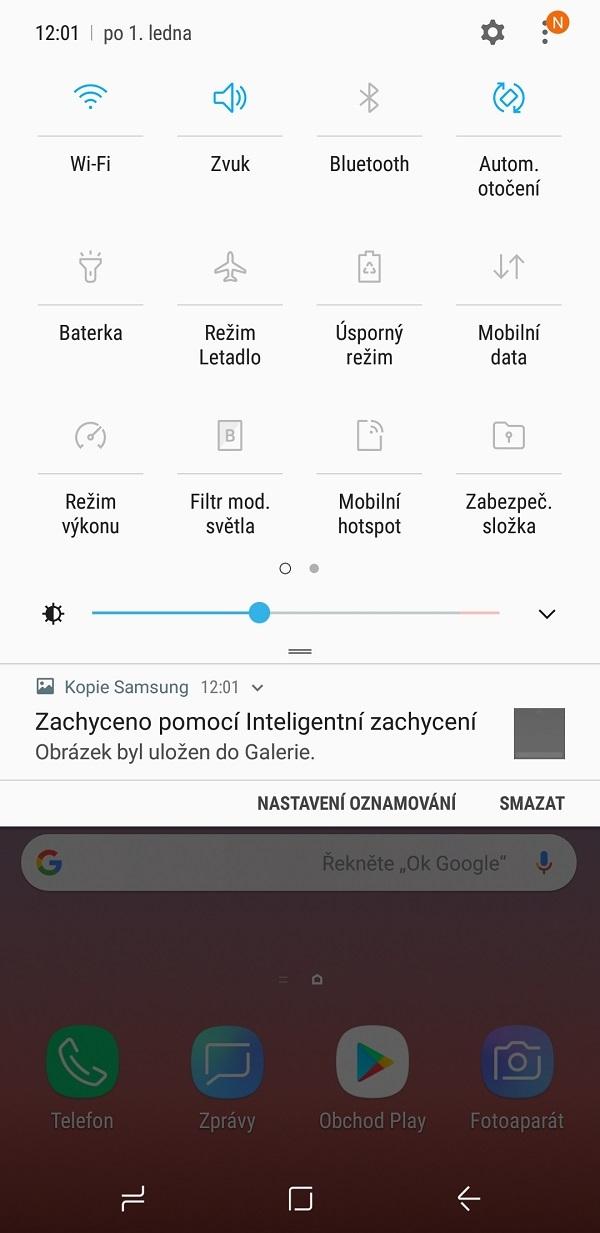 Samsung Galaxy Note9; recenzia; nastavenie