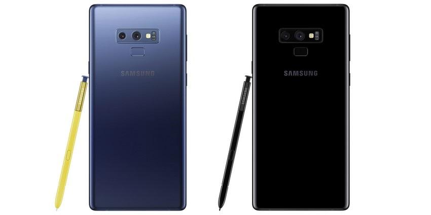 Samsung Galaxy Note9, zadná strana