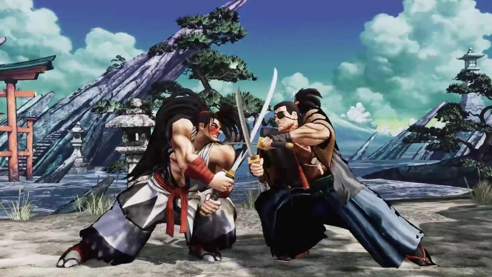 Samurai Shodown; screenshot: swords