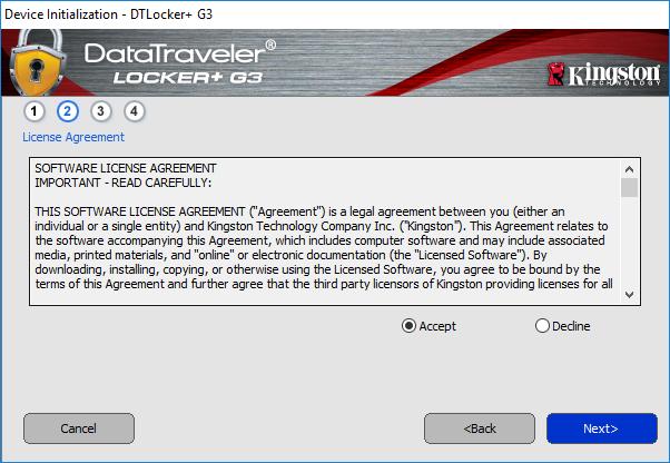Podmienky programu na šifrovanie USB.