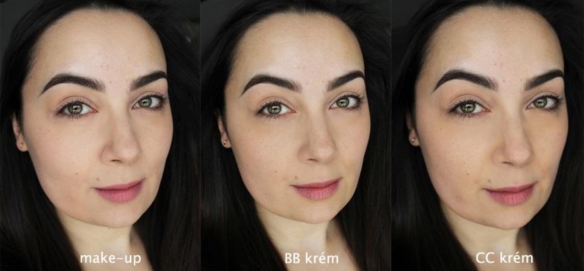 Porovnanie make-upu, BB a CC krému