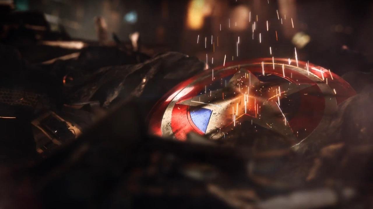 Marvel's Avengers; wallpaper: štít