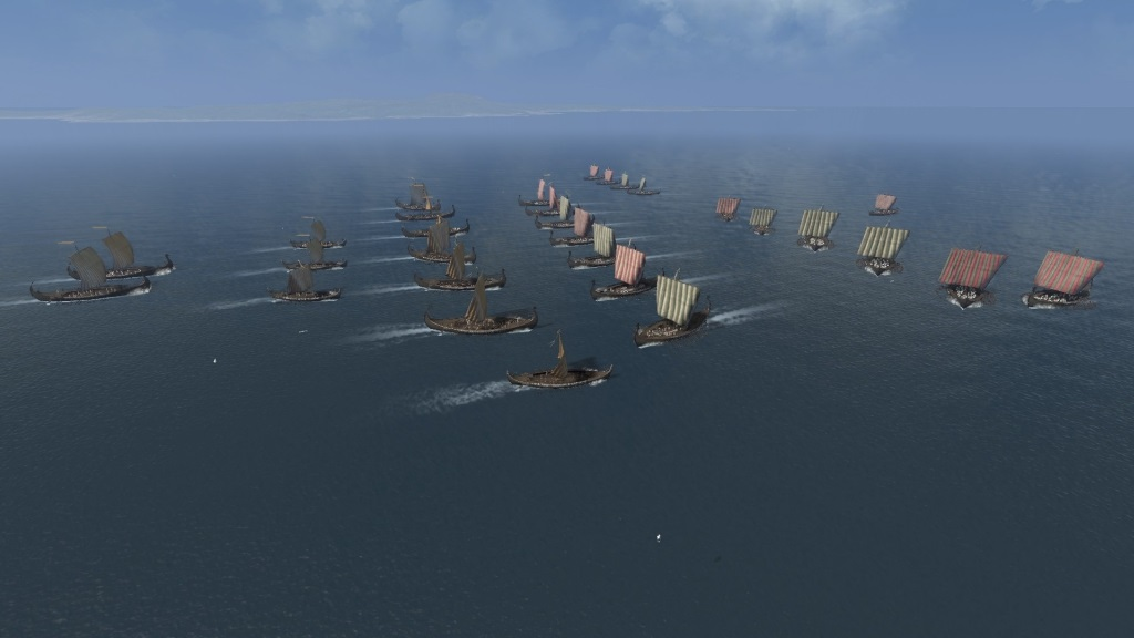 Total War Saga: Thrones of Britannia; Gameplay: bitva na mori