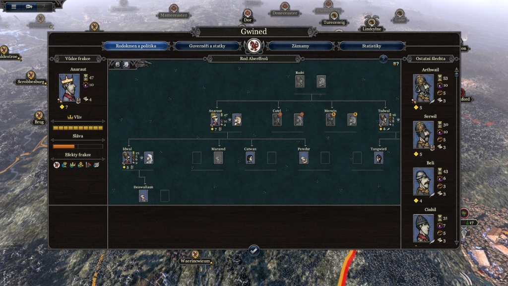 Total War Saga: Thrones of Britannia; Gameplay: rodina