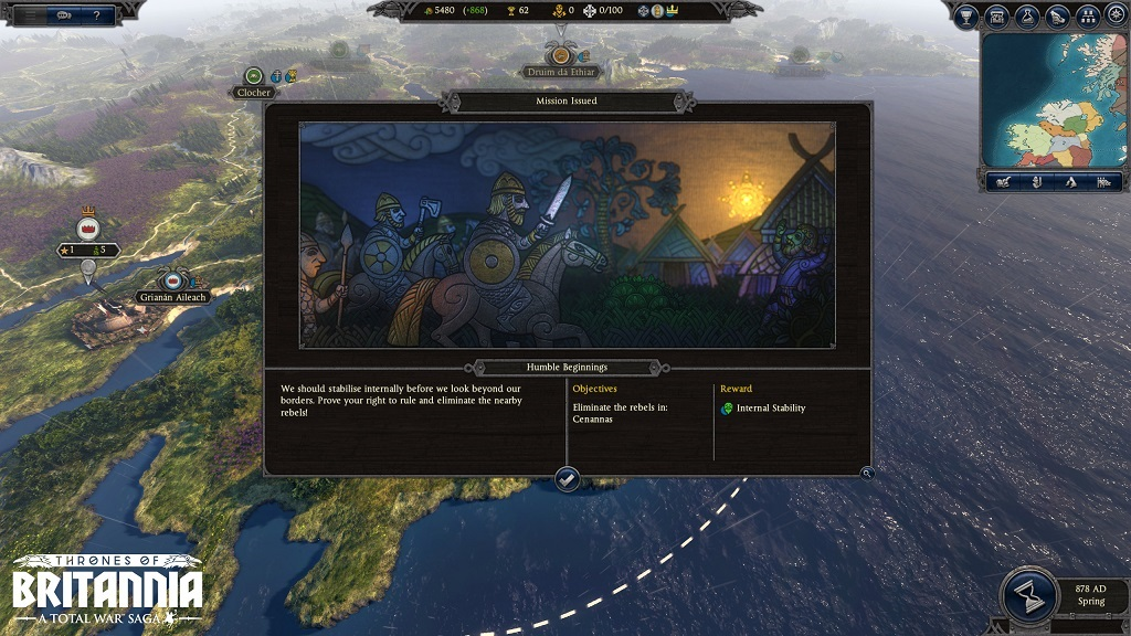 Total War Saga: Thrones of Britannia; Zadanie misie