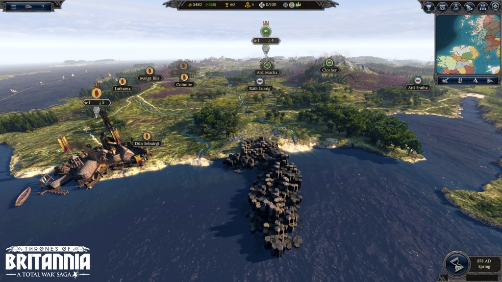 Total War Saga: Thrones of Britannia; pobrežie