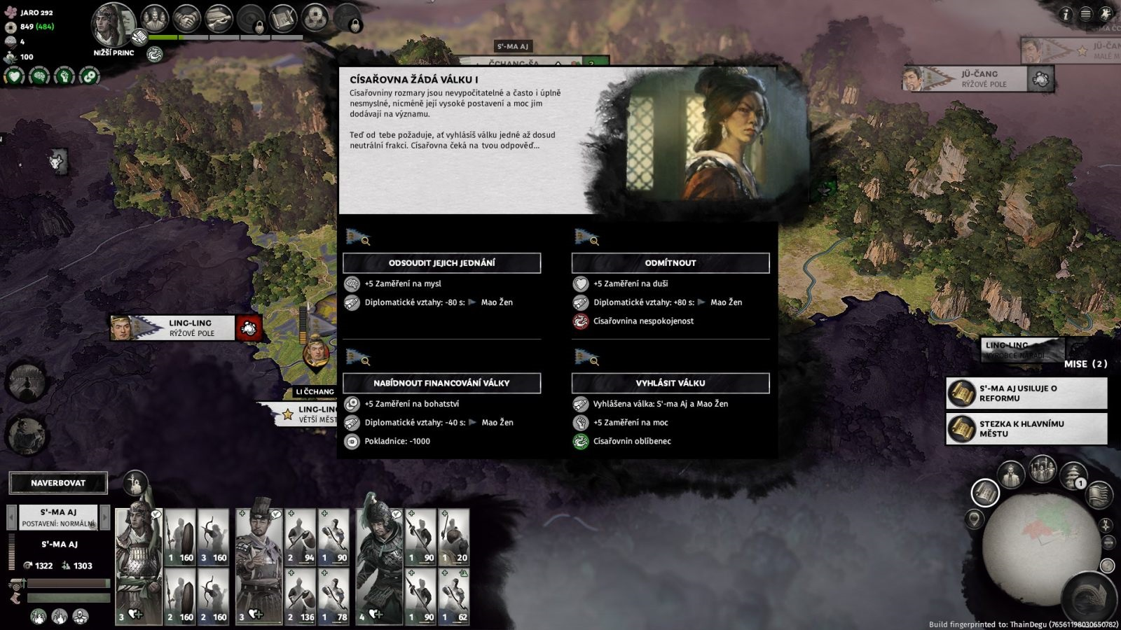 Total War: Three Kingdoms – Eight Princes; gameplay: Cisárovna