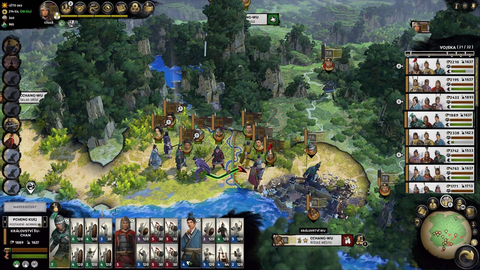 Total War: Three Kingdoms; gameplay: finále