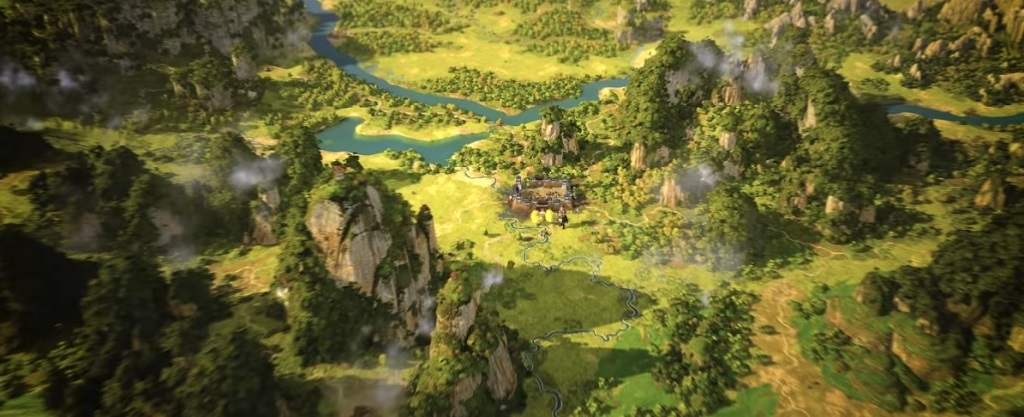 Total War: Three Kingdoms; screenshot: mapa kampane