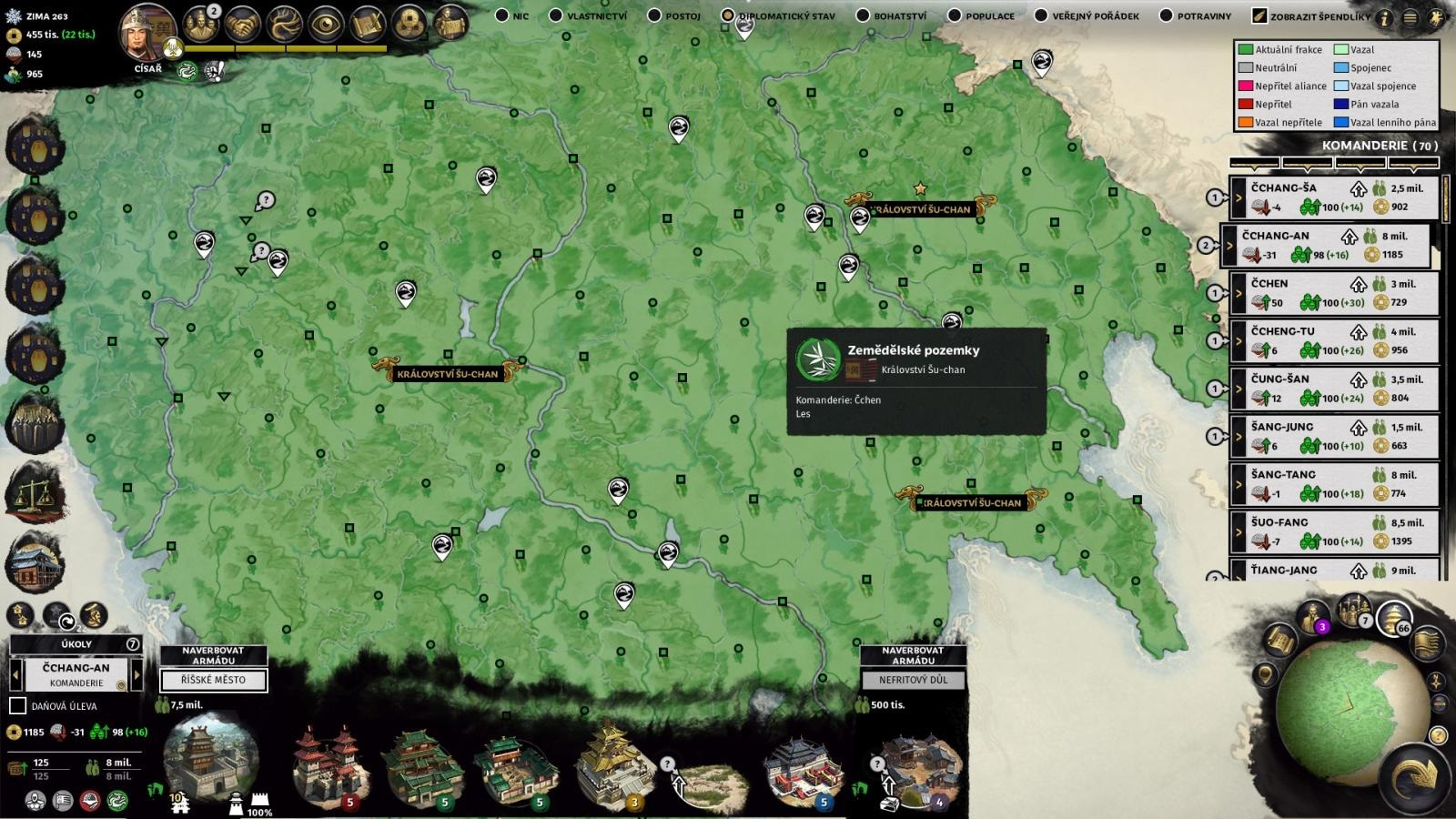 Total War: Three Kingdoms; gameplay: mapa