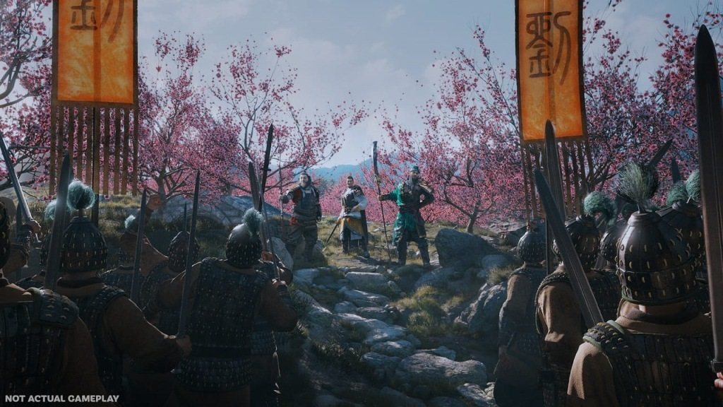 Total War: Three Kingdoms; screenshot: príprava na bitku