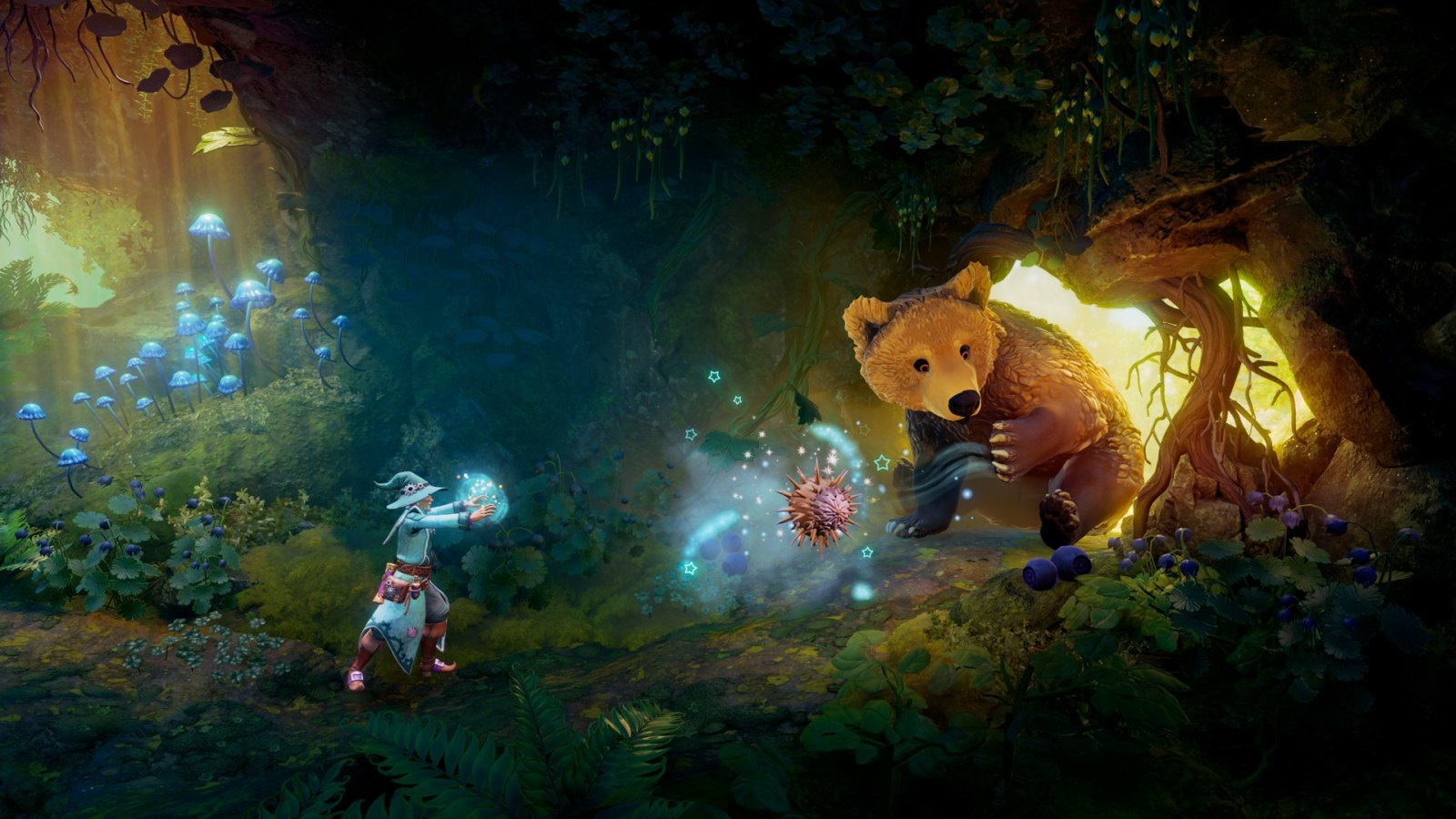 Trine 4: The Nightmare Prince; screenshot: medvěd