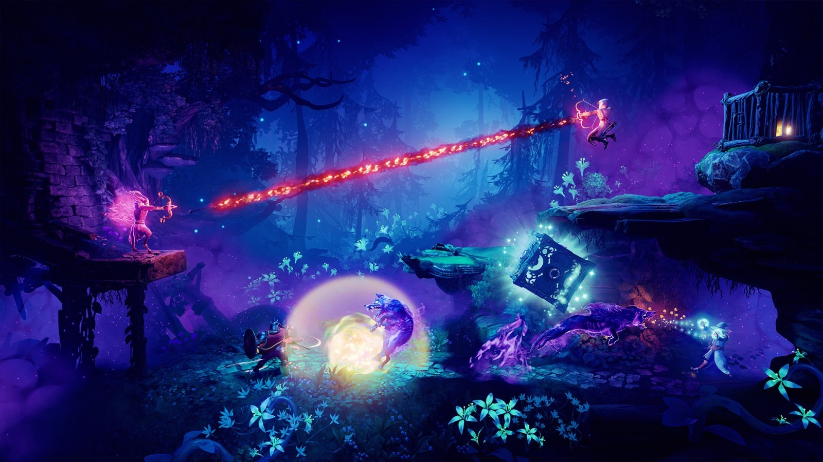 Trine 4: The Nightmare Prince; screenshot: vlk, súboj