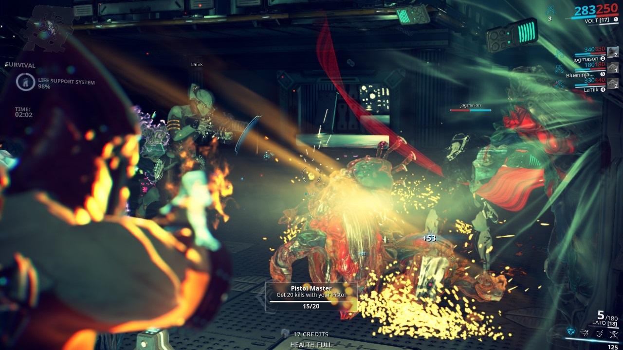 Warframe; gameplay: akcia