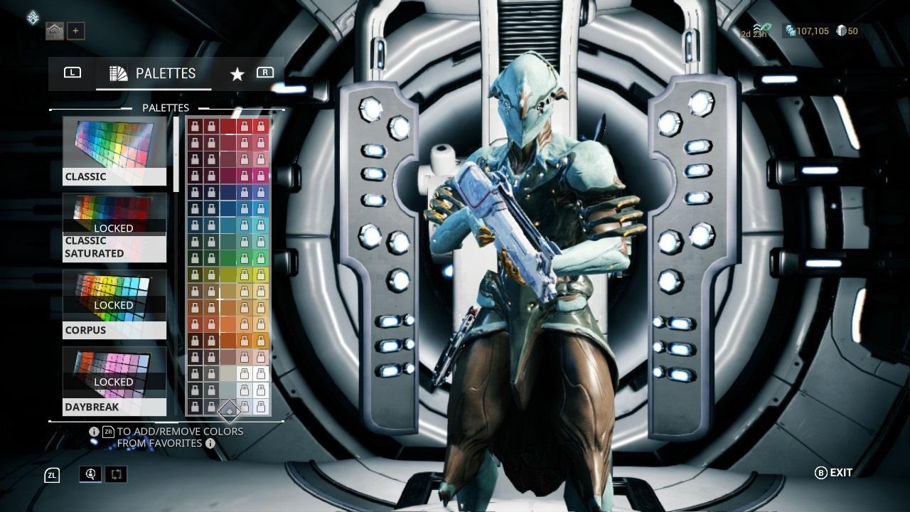 Warframe; gameplay: customizácia