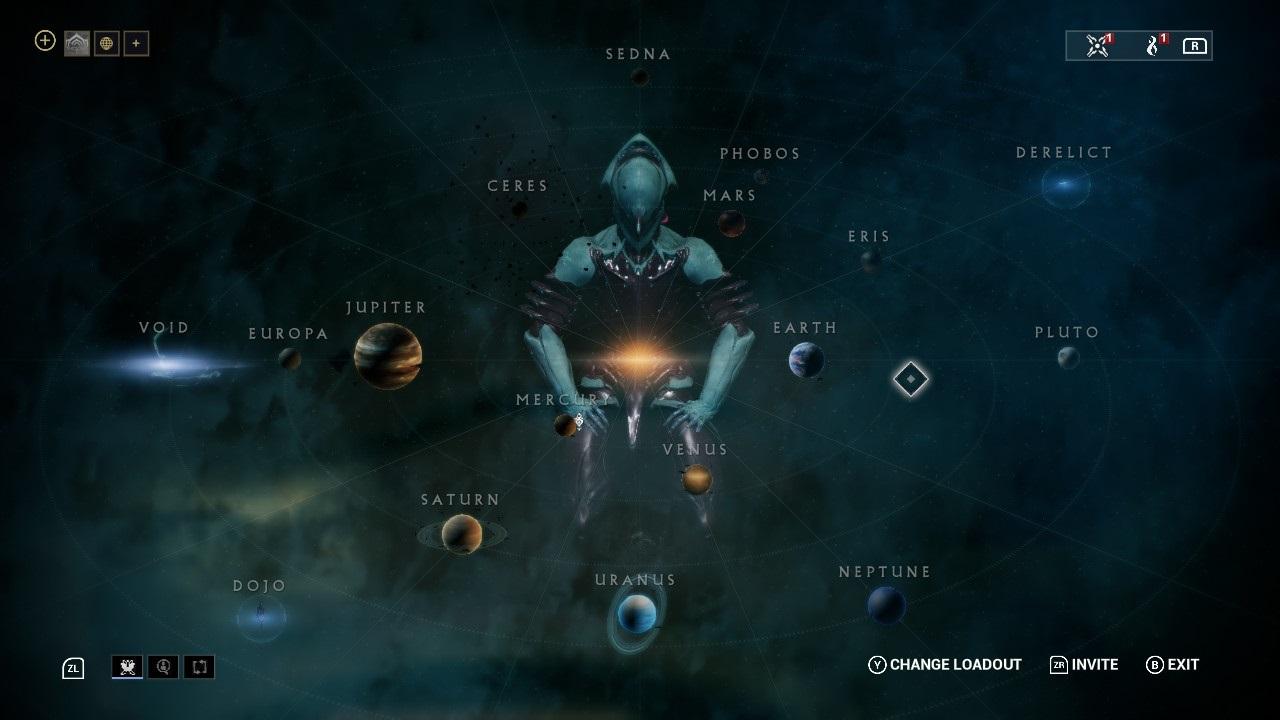 Warframe; gameplay: hviezdna mapa