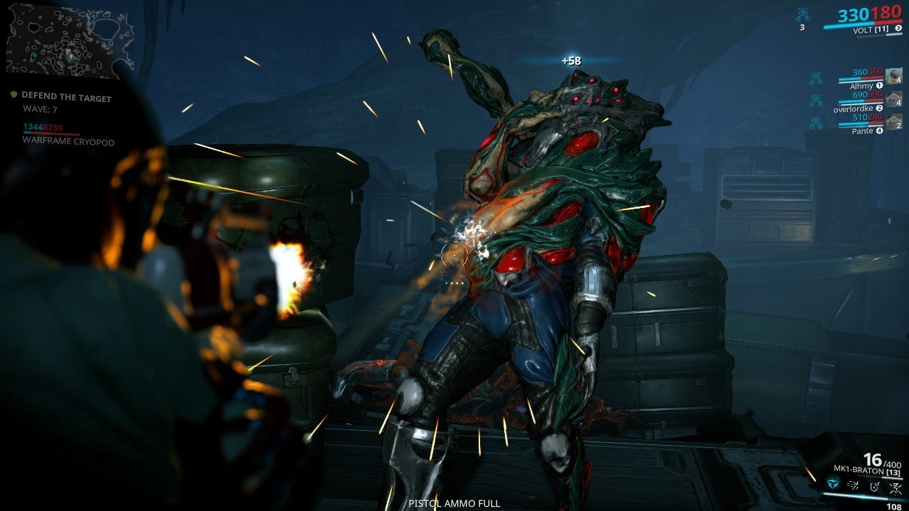 Warframe; gameplay: infested