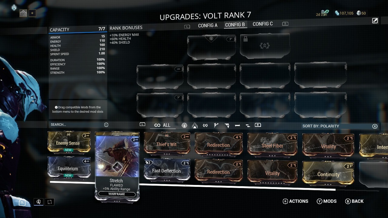 Warframe; gameplay: módy