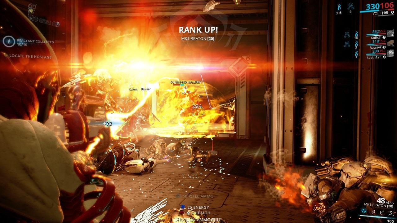 Warframe; gameplay: výbuchy