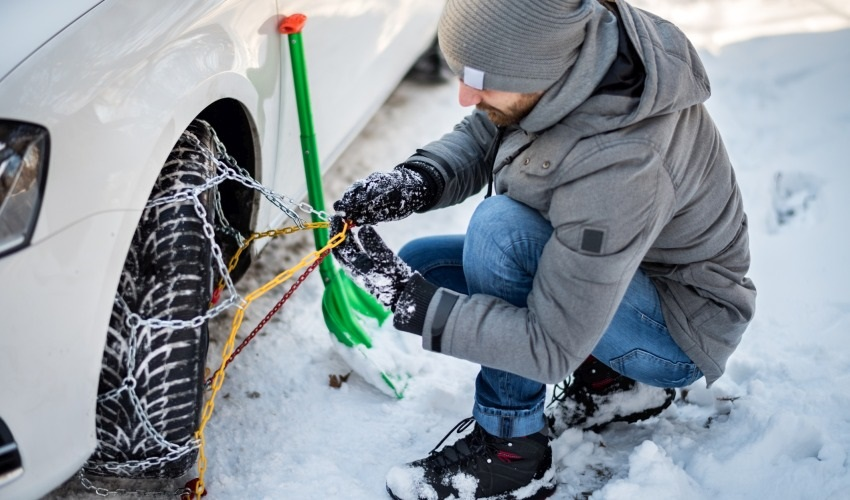 Zimné pneumatiky – reťaze