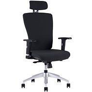 Halim s podhlavníkom čierna - Kancelárska stolička