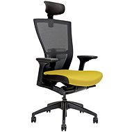 MERENS s podhlavníkom žltá - Kancelárska stolička