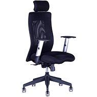 Kancelárska stolička CALYPSO XL s nastaviteľným podhlavníkom čierna
