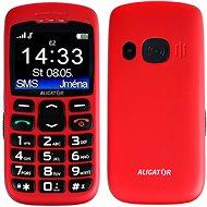 Aligator A670 Senior Red + Stolová nabíjačka - Mobilný telefón