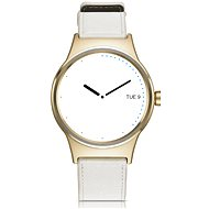 TCL MOVETIME Smartwatch Leather Gold/White - Smart hodinky